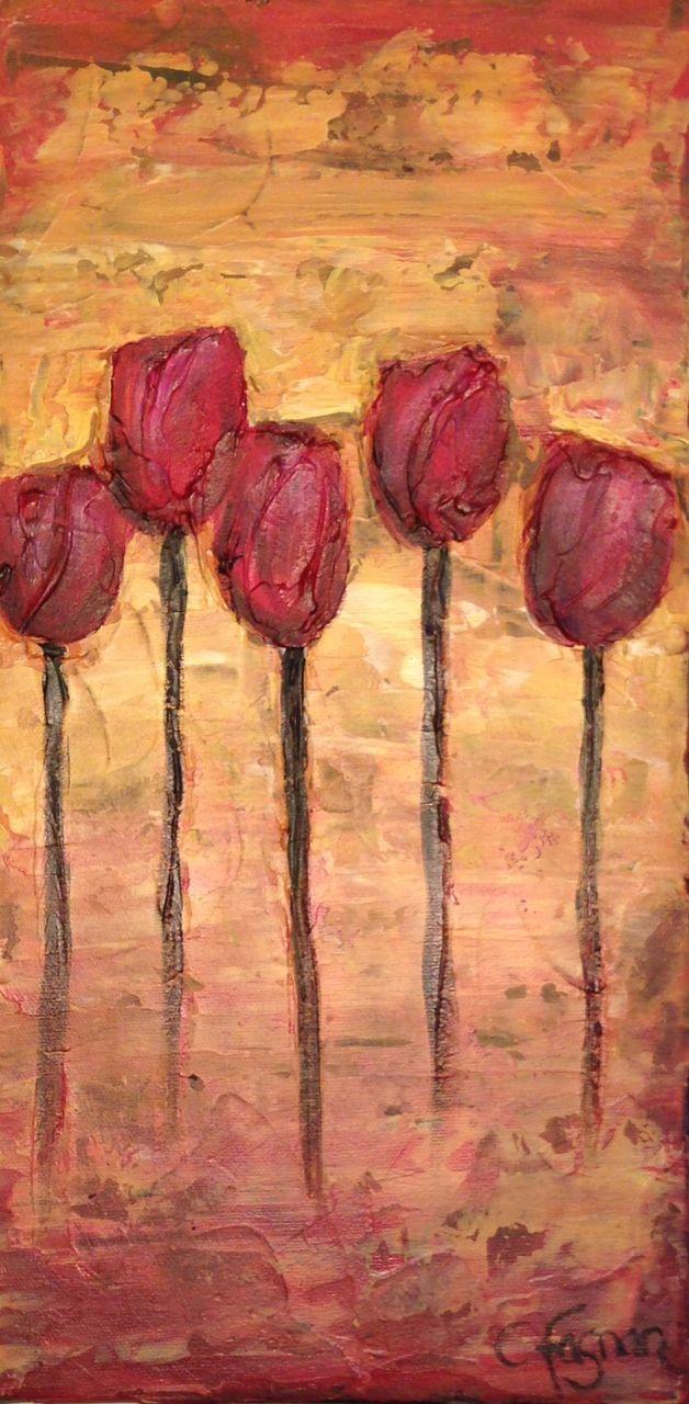 Le temps des roses, mixte, 9 x 11, Catherine Fagnan, artiste en arts visuels, catherinefagnan.com