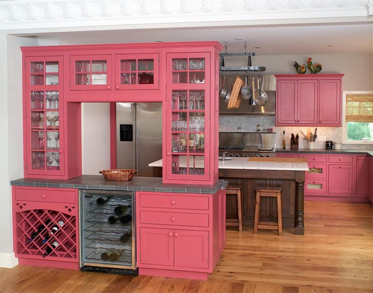 Pink Kitchen Cabinets 172 best pink kitchens! images on pinterest | dream kitchens, pink