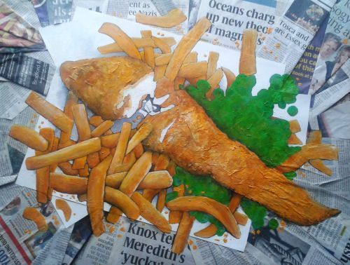 Fish and chips ....... not forgetting the peas