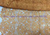 Оранжевый фушия желтый красный цвет африканский ткань золото кружевная ткань отделка сухой кружево нигерия шнур кружево