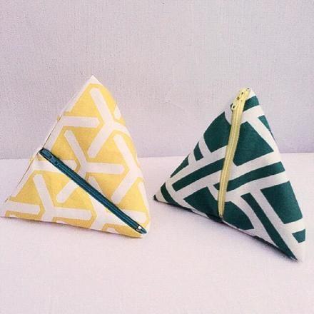 Tetrahedral Triangular Pouch - S$16 : Singapore / Asian Handmade #artdew