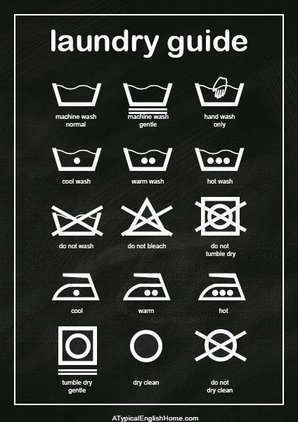 Laundry Guide Free Printable