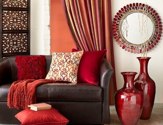 5 Colours Scientifically Proven to Change the Mood of Your Home [Infographic] Red-living-room-with-red-vases