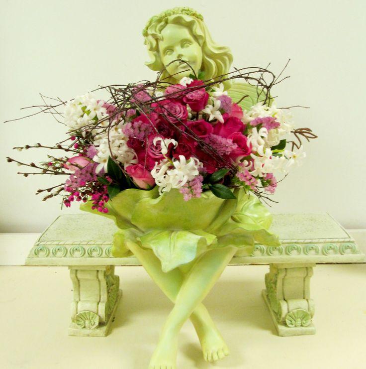 angel holding flowers