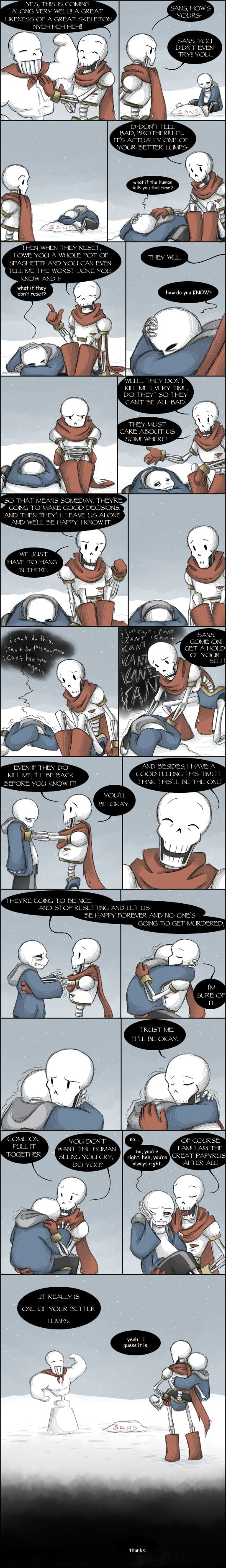 [UNDERTALE SPOILERS] They'll get bored eventually by zarla on DeviantArt<<I-Is this....what the feel...when I reset?! I SHOULD NO BE INVESTED IN THE LIVES OF THESE BABIES!!!