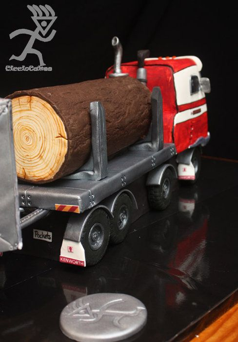 Log & Beer Truck Cake...entirely edible all 1.35m & 30KG
