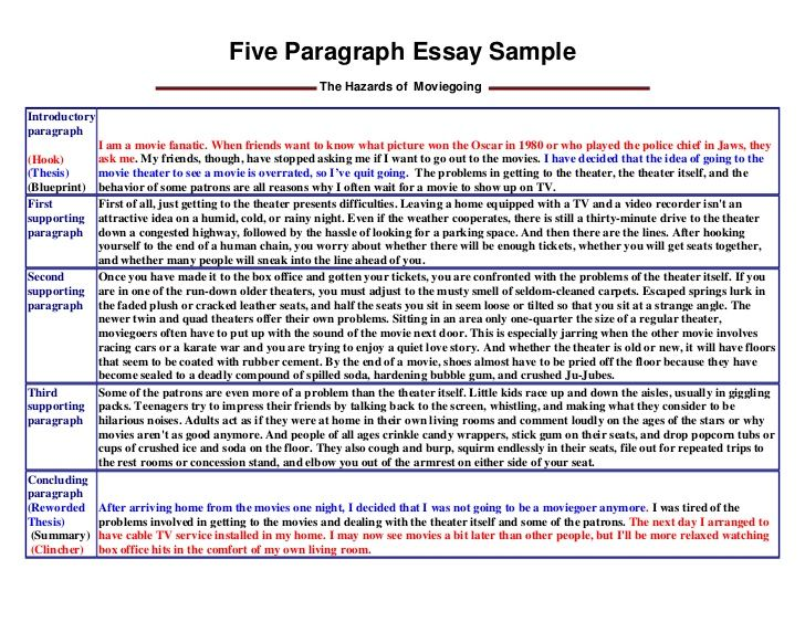 essay for college examples