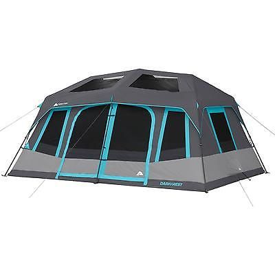 10 Person Cabin Camping Tent Instant Family Shelter Outdoor Hiking Carrybag Gray