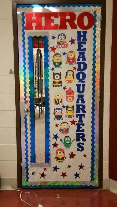 Superhero Minions Classroom Door