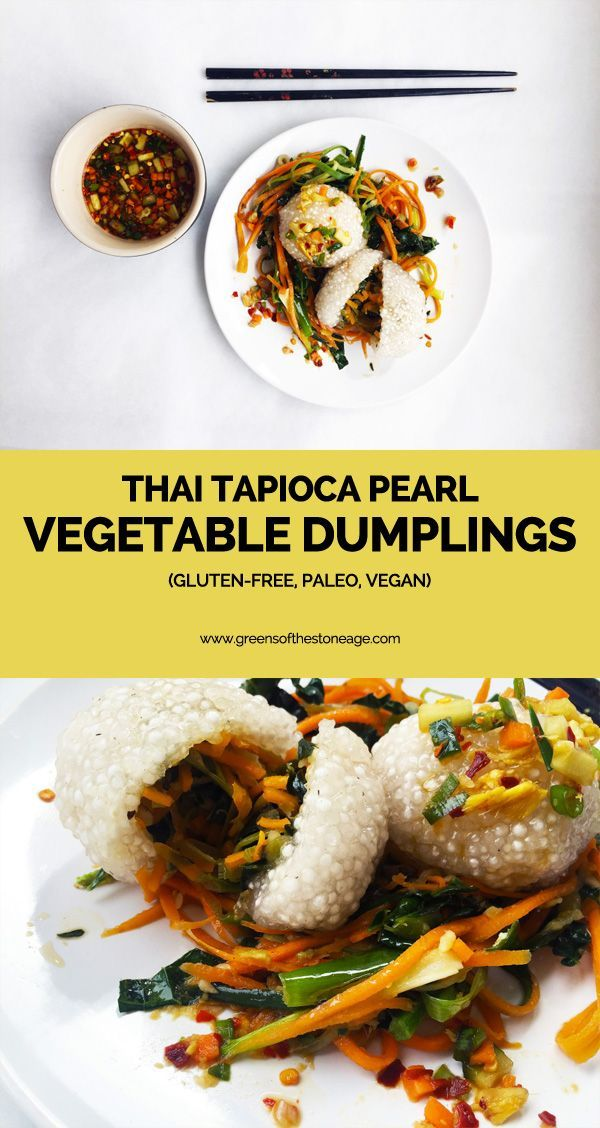 These Thai Tapioca Pearl Vegetable Dumplings are so easy to make and ridiculously delicious - especially when paired with the dipping sauce included! This recipe is suitable for those following a Paleo, vegan, and gluten-free diet.