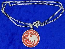 Targaryen Dragon Necklace or Keychain Red Game of Thrones Chain Length Choice