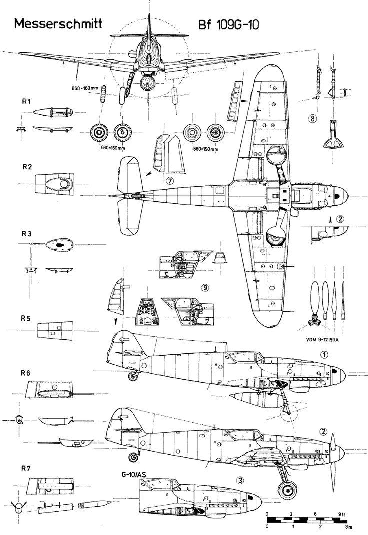 messerschmitt bf 109 blueprint