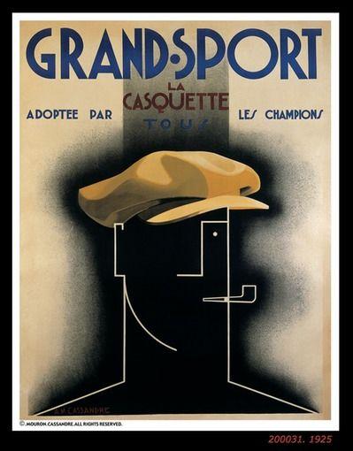 "GRAND SPORT -1925 / Adolphe Jean Marie Mouron ""Cassandre"""