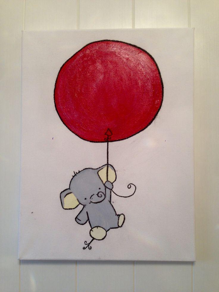 Malt Elefantbilde