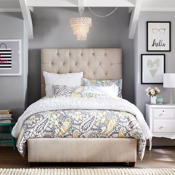 Best 25 white tufted bed ideas on pinterest tufted bed grey tufted headboard and quilted for Quilted headboard bedroom sets