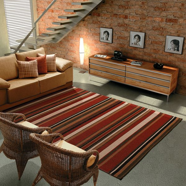 tapetes para sala listrados -