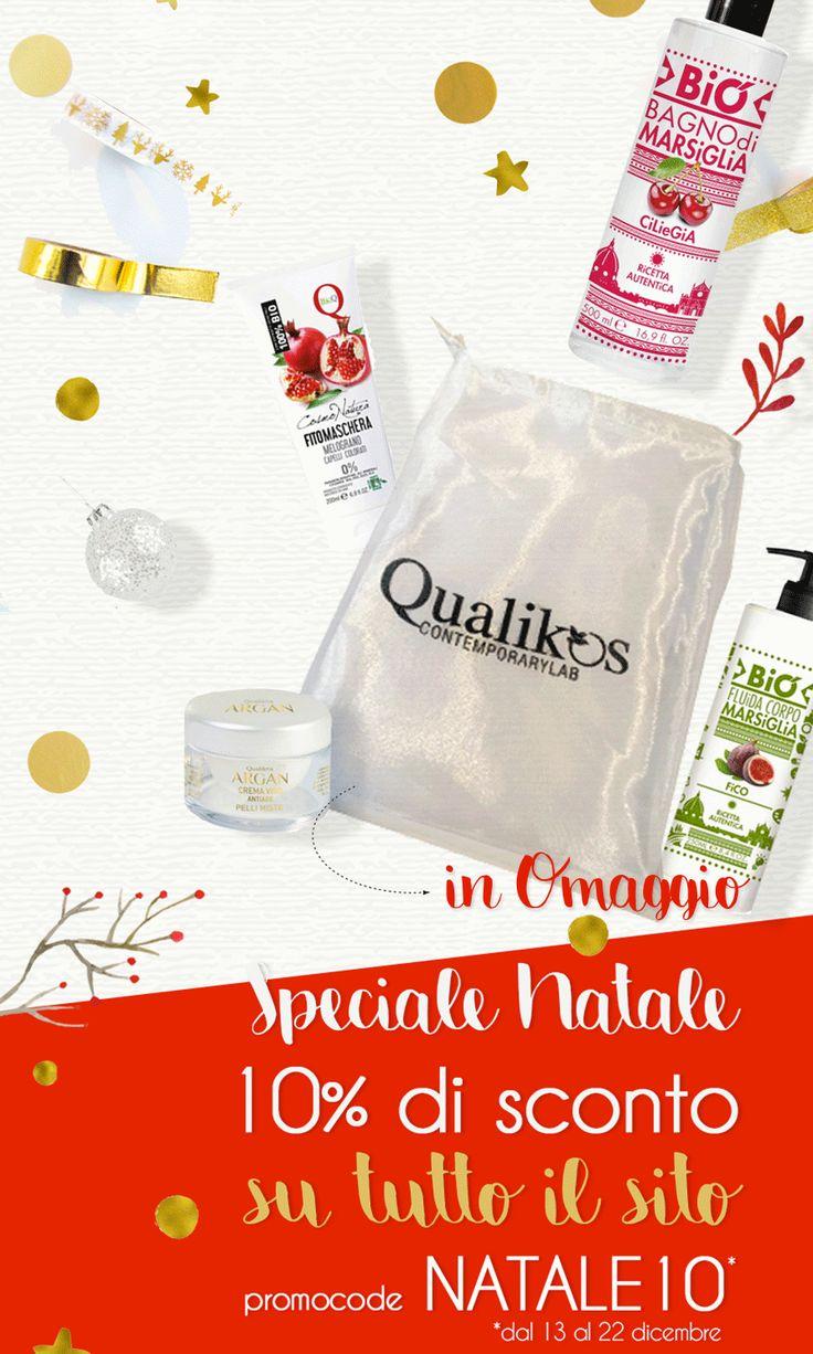 Ancora qualche giorno per approfittare della promo NATALE10 e ricevere i tuoi prodotti #Qualikos preferiti al 10% di sconto.  Acquista ORA! #cosmetica #bio