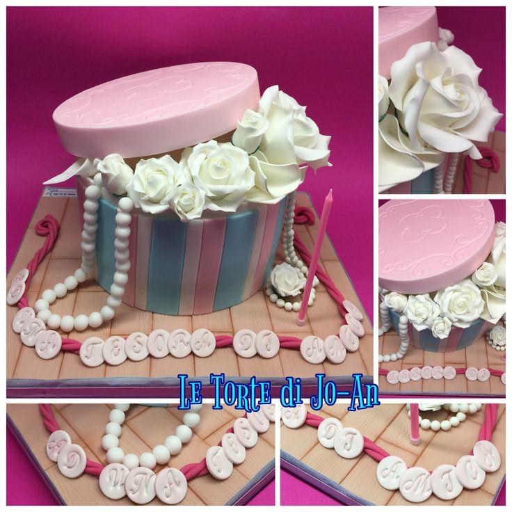 Torta scatola con rose