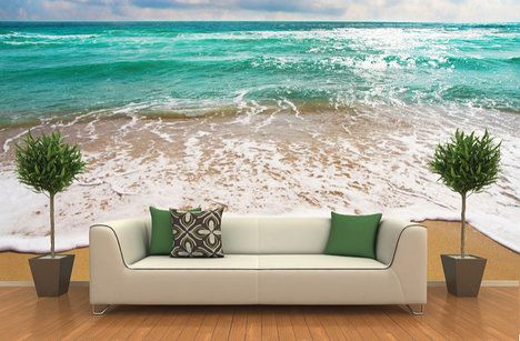 Dostaňte k sobě domů trochu z vaší letní dovolené. Fototapeta pláž o velikosti 126 x 123 cm. Cena 697 Kč; Dezign