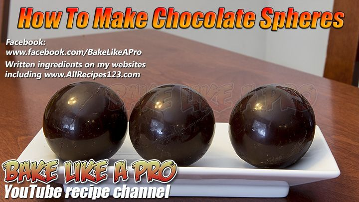 How To Make Chocolate Spheres Recipe By BakeLikeAPro  DIRECT LINK To My Recipe: ★★► https://youtu.be/BqWfLiOBajc