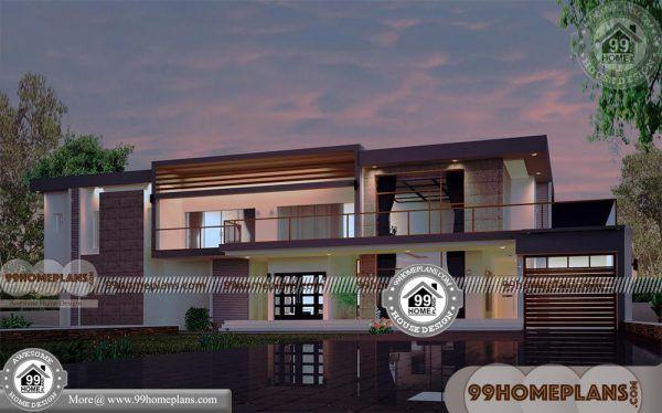 Modern Style House Plan 3 Beds 2 Baths 1539 Sq Ft Plan 552 2 Plan Maison Architecte Maison Architecte Plan Maison Moderne