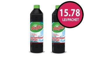 La cumpărarea unui flacon de detartrant Nufăr la 1 L la preţul de 9.86 lei/flacon+TVA, primeşti al doilea flacon la doar 5.92 lei! Întreg pachetul la 15.78 Lei+TVA! Asta înseamnă o reducere de 40%!