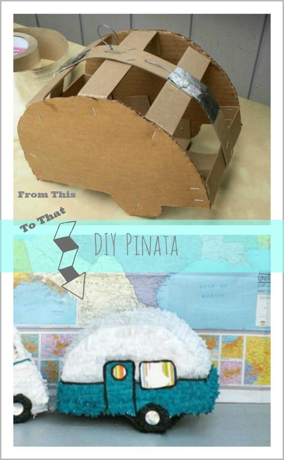 DIY Pinata :: Great for a Vintage Camper Party or Wedding