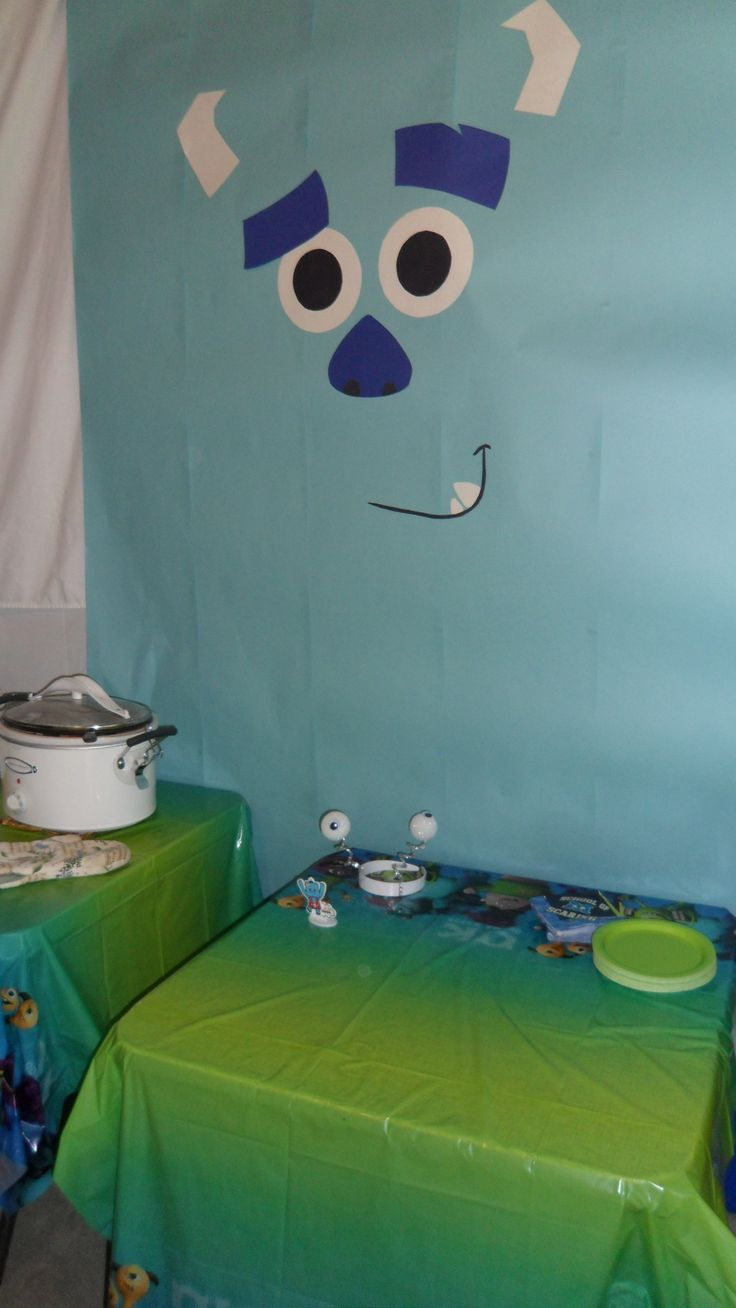 CA door decoration (Sulley). The other door can be the one