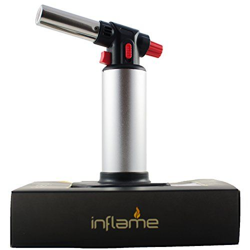 cool Inflame - Refillable Butane Torch. Quality Kitchen tools for Home and Culinary Chefs. Blow Torch for Light Industrial Uses and Camping.