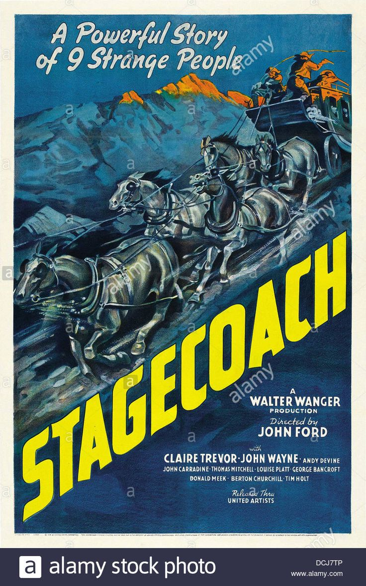 Stagecoach - Movie Poster - Directed By John Ford - United Artists Stock Photo, Royalty Free Image: 59408294 - Alamy