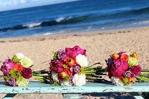 Bright peonie, tulip, chrysanthemum, rose bouquet