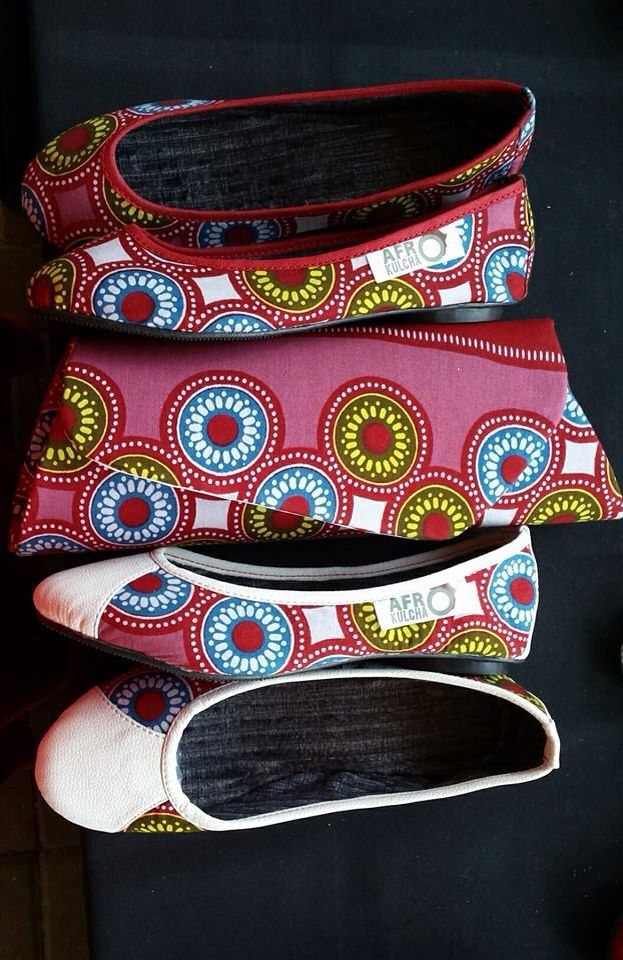 African print shoes and bags