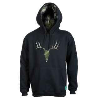The Deer Hoodie is made of super warm poly/cotton fleece and with the eye-catching deer artwork on the front. Featuring Ridgeline's famous Buffalo Camo print, this hoodie sets itself apart from the rest.  Colour: BlackSizes: S to 2XL