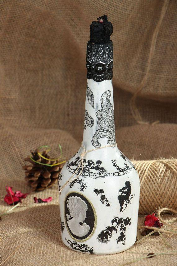 "Decorative decoupage bottle ""Kamel"""