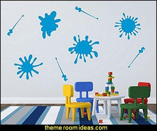 splatter paint bedroom ideas bedding