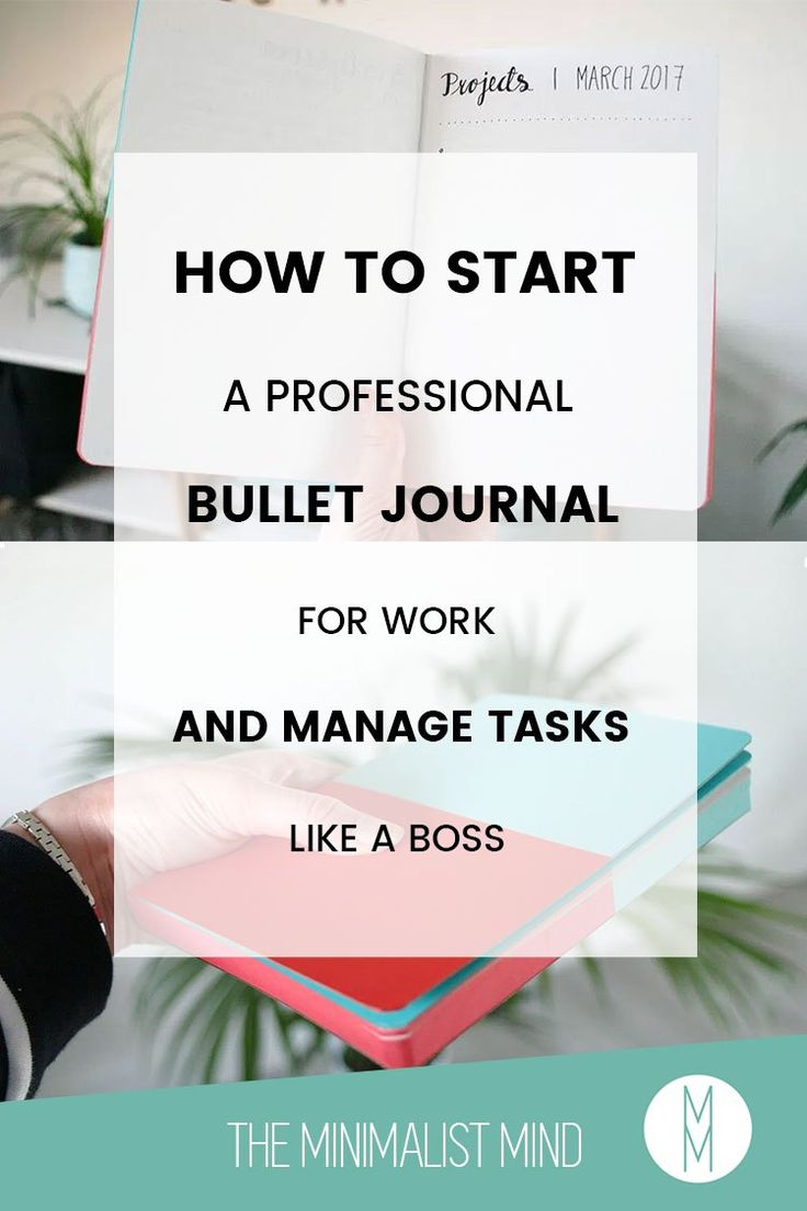 How to Create a Professional Bullet Journal for Work - Looking for a productive way to manage your tasks at work? Let me show you how I use my professional bullet journal at work!