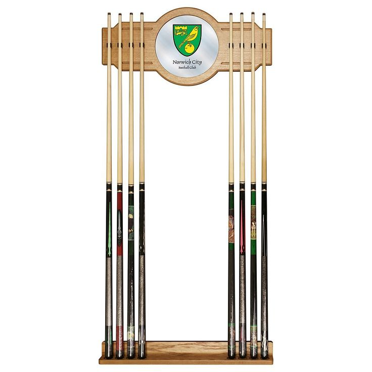 Norwich City FC Cue Rack with Mirror, Green