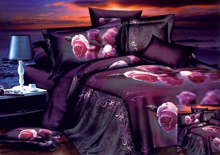 Pościel 3D Kolorystyka: fiolet
