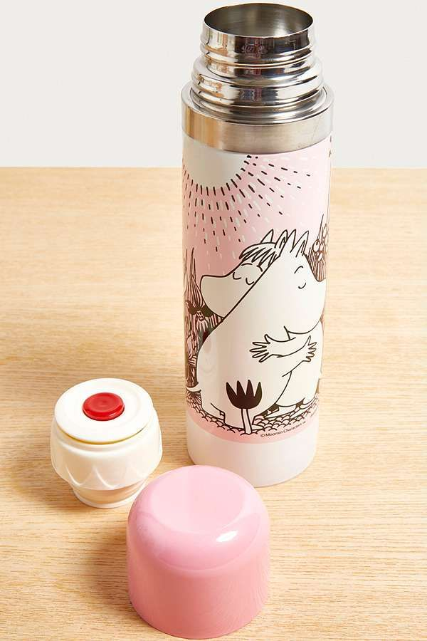 Slide View: 1: Moomin Pink Thermos Bottle