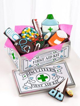 Get well first aid kit cookies