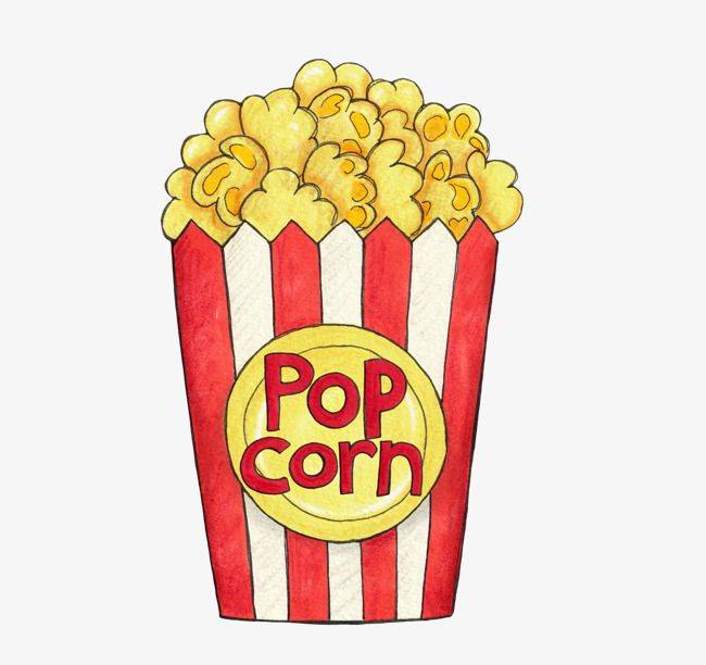 Cartoon Retro Movie Theme Hand Painted Popcorn Png And Clipart Cute Food Drawings Cute Cartoon Drawings Rock Painting Designs