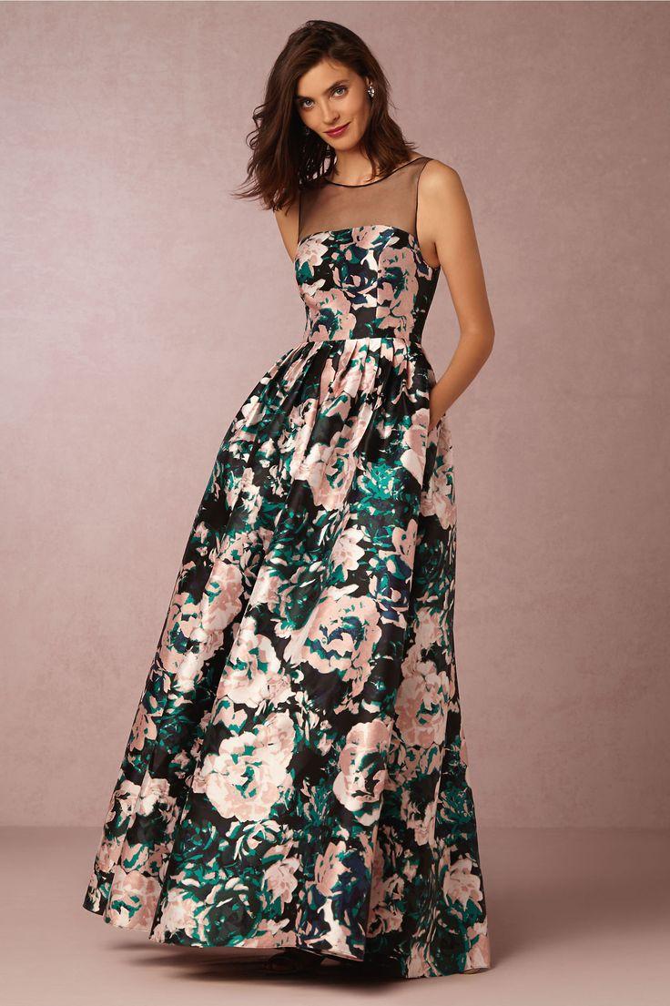 Floral print wedding dresses   best Wedding Fashion LOVE images on Pinterest  Wedding frocks