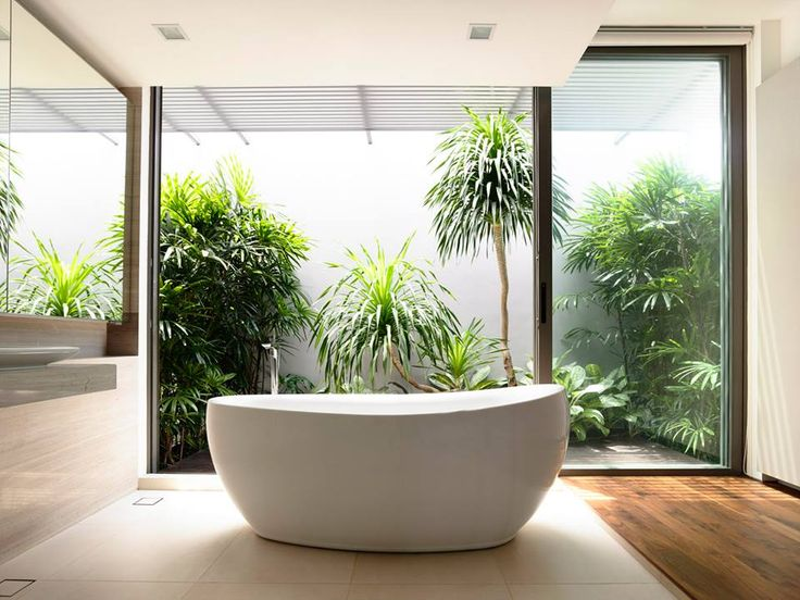 Bathroom, bringing the outdoors in