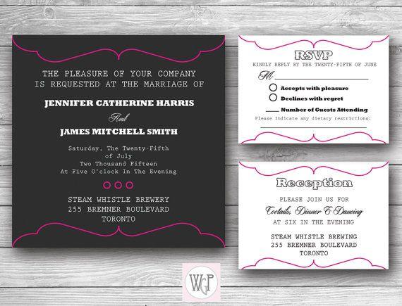 Madelyn Wedding Invitation Set  Digital by WeddingGlitzPrints