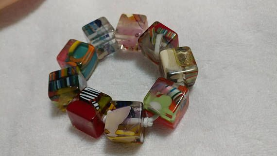 SALE Sobral Signed Large Cubes Preterito Perfeito Bracelet