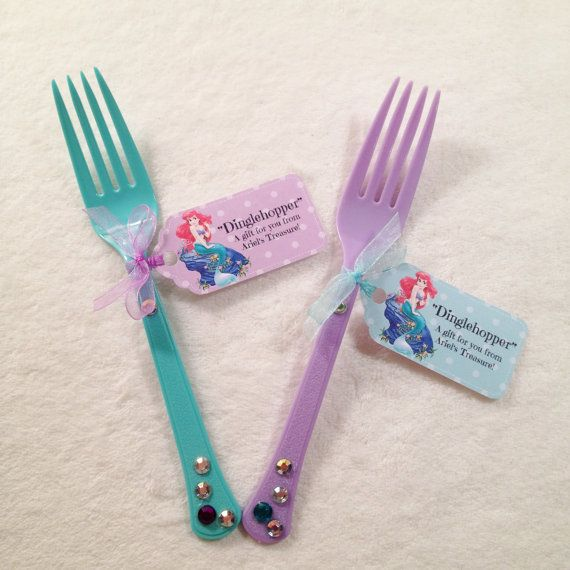 10 Dinglehoppers Ariel Little Mermaid Dinglhopper treasures Party Favor or Party Supplies Little Mermaid Party decorations