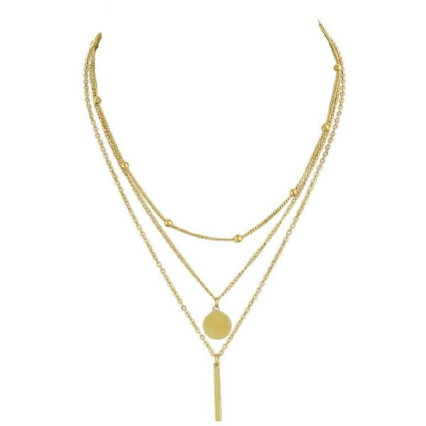 Gold Long Multi Layers Chain Maxi Necklace ❤ liked on Polyvore featuring jewelry, necklaces, long necklace, yellow gold jewelry, double layer necklace, layered chain necklace and long layered necklaces