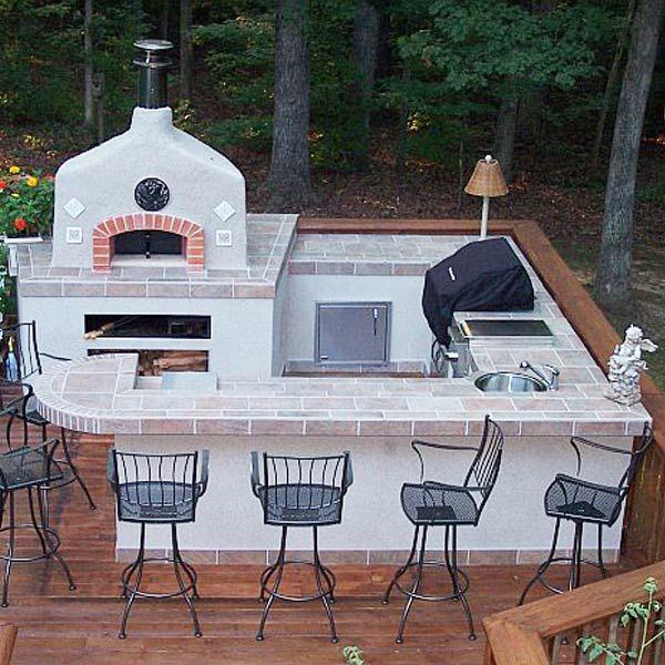 12 best outdoor kitchen images on pinterest outdoor for Outdoor kitchen smoker plans