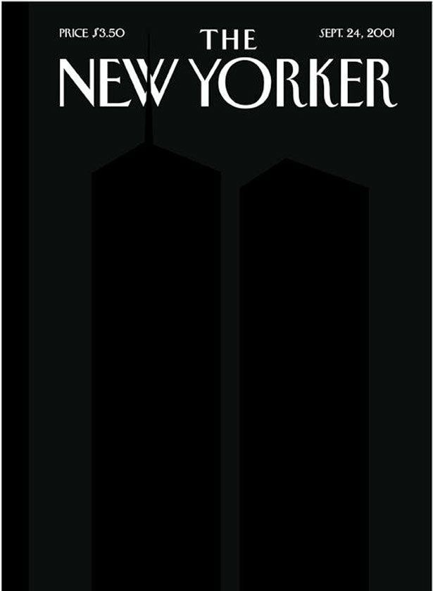 The New Yorker, Sept. 24, 2001: Twin Towers in Silhouette.