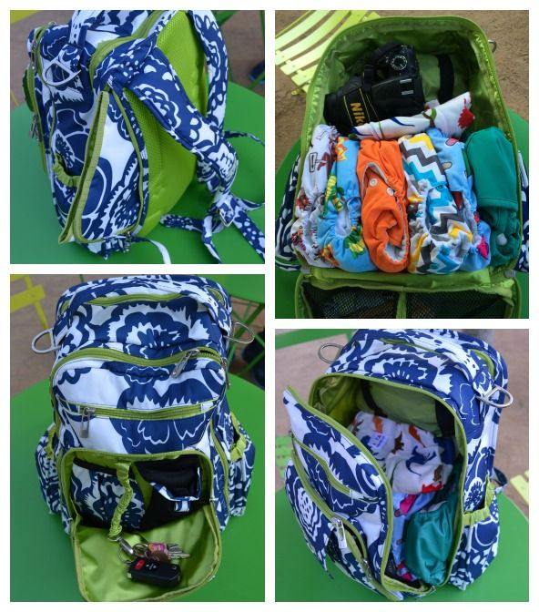 JuJuBe Diaper Backpack Features